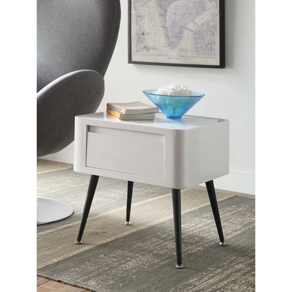 Small Mid Century Modern End Tables: Shop Black And White Mid-century Modern Short Side Table