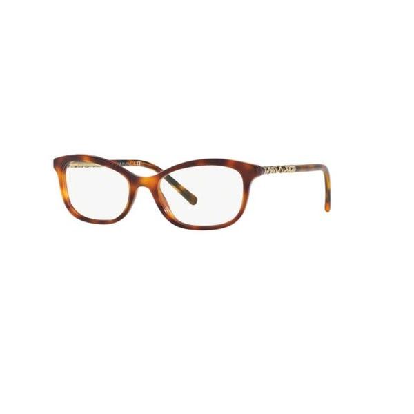 26376a771cb4 Burberry BE2231 3316 Light Havana Plastic Butterfly Eyeglasses w  52mm Lens  - Brown