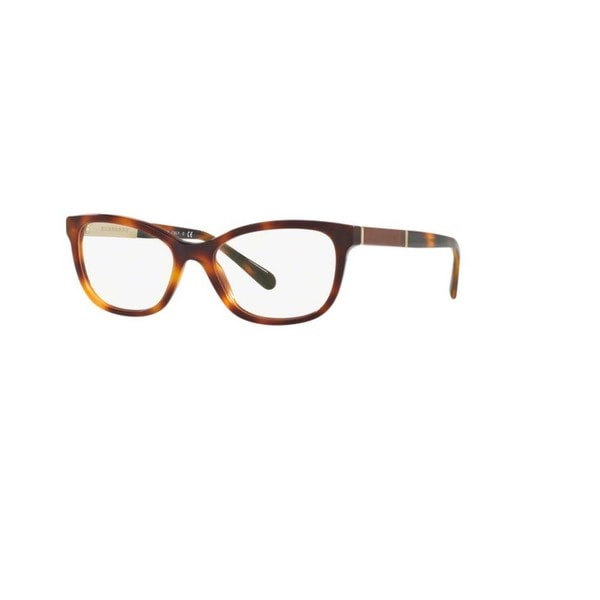 2c5e83a897f Burberry BE2232 3316 Light Havana Plastic Cat Eye Eyeglasses w  53mm Lens