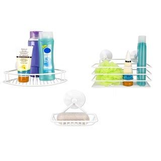 Home Basics White Vinyl Soap Dish and Suction Cup