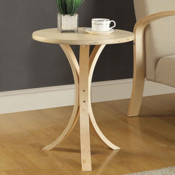 shop danish collection natural finish round wood side table free shipping today overstock. Black Bedroom Furniture Sets. Home Design Ideas