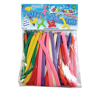 100 Twisty Multiple Colors Balloons Refill Pack