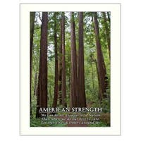 """""""American Strength"""" By Trendy Decor4U, Printed Wall Art, Ready To Hang Framed Poster, White Frame"""
