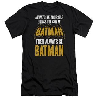 Batman/Be Batman Short Sleeve Adult T-Shirt 30/1 in Black