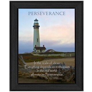 """Perseverance"" By Trendy Decor4U, Printed Wall Art, Ready To Hang Framed Poster, Black Frame"