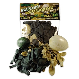 100 Grenade Style Biodegradable Water Bombs