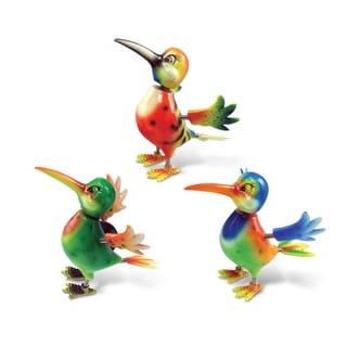 Puzzled Inc. Hummingbird Multicolored Plastic Bobble Magnet (Set of 3)