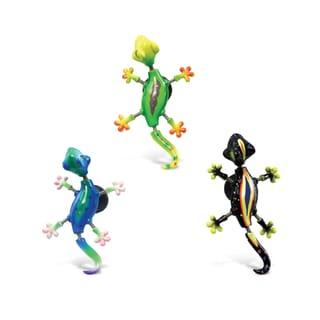 Puzzled Plastic Exotic Gecko Bobble Magnet