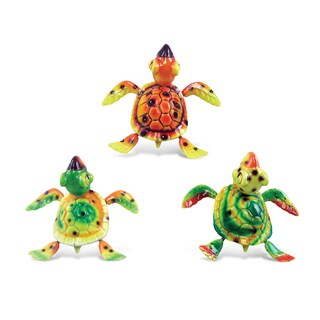 Coral Sea-Turtle Bobble Magnets (Set of 3)