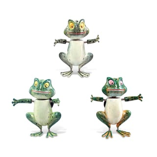 Puzzled Plastic Friendly Frog Bobble Magnet (Set of 3)