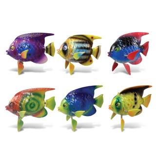 Puzzled Inc. Fish Multicolored Plastic Bobble Magnet (Set of 6)