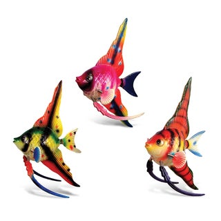 Puzzled Plastic High-fin Angel Fish Bobble Magnet