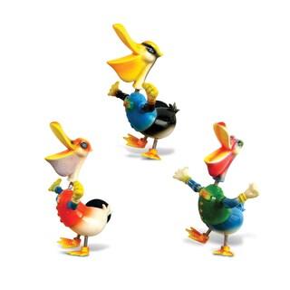 Multicolored Plastic Pelican Bobble Magnet