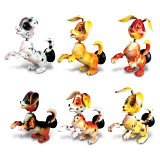 Puzzled Plastic 'Doggie' Bobble Magnet (Set of 6)