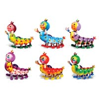 Puzzled Caterpillar Bobble Magnets (Set of 6)