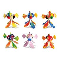 Puzzled Exotic Fish Bobble Magnets (Set of 6)