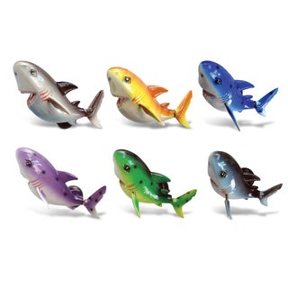 Multicolor Plastic Biting Shark Bobble Magnets
