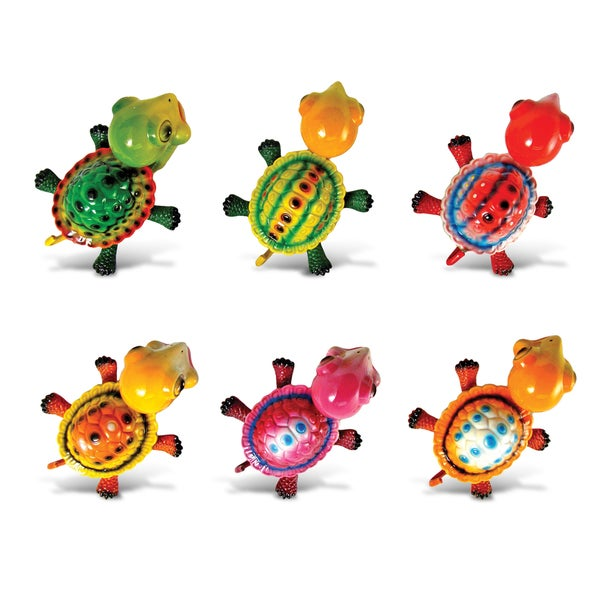 Puzzled Inc. Multicolor Plastic Turtle Bobble Magnets (Pack of 6)