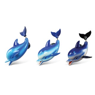Puzzled Inc. Dolphin Multicolored Plastic Bobble Magnet (Set of 3)