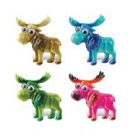 Multicolor Plastic Bobble-eye Moose Magnets