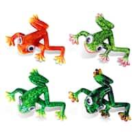 Exotic Frog Bobble-eye Magnets (Set of 4)