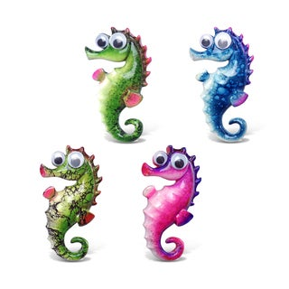 Puzzled Inc. Sea Horse Bobble-eye Magnet