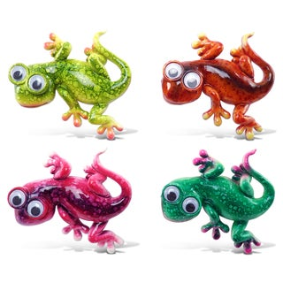 Gecko Bobble-eye Magnets (Set of 4)