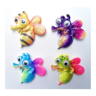 Honeybee Bobble-eye Magnets (Set of 4)
