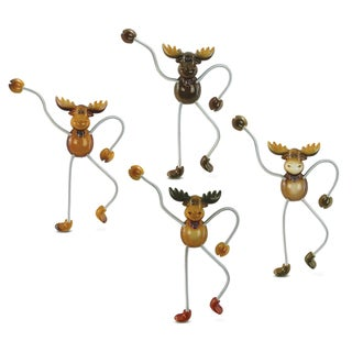 Moose Springy Magnets (Set of 4)