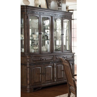 Coaster Company Carlsbad Brown Wood Buffet and Hutch
