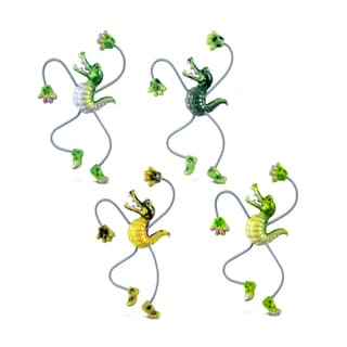 Puzzled Alligator Springy Magnets (Pack of 4)