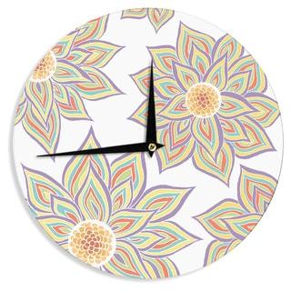 KESS InHouse Pom Graphic Design 'Floral Rhythm' Wall Clock