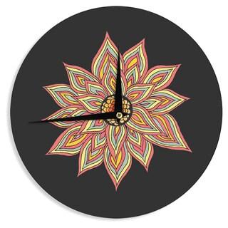KESS InHouse Pom Graphic Design 'Incandescent Flower' Wall Clock