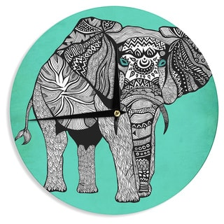 KESS InHouse Pom Graphic Design 'Elephant of Namibia Color' Wall Clock