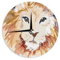 KESS InHouse Padgett Mason 'Leo' Wall Clock
