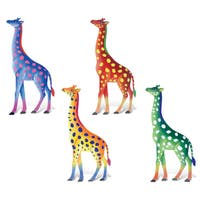 Puzzled Giraffe Metal Bobble Magnets (Pack of 4)