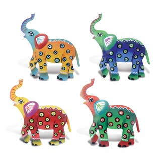 Multicolor Metal Elephant Bobble Magnets