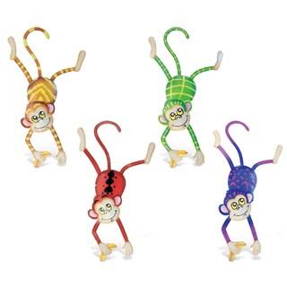 Multicolor Metal Monkey Bobble Magnets