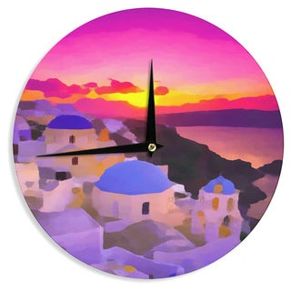 KESS InHouse Oriana Cordero 'My Konos' Pink Sunset Wall Clock