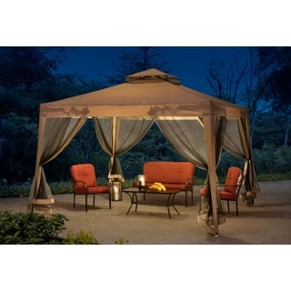 Sunjoy Tan Steel 10-foot x 10-foot Footprint Weist Gazebo