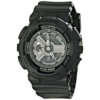 Casio Women's BA110BC-1ACR 'Baby-G' Analog-Digital Black Resin Watch