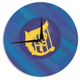 KESS InHouse NL Designs 'Mercury' Blue Navy Wall Clock