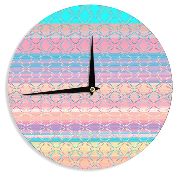 KESS InHouse Nina May 'Denin & Diam New Mexico' Pastel Wall Clock