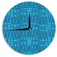 KESS InHouse Nina May 'Variblue' Wall Clock