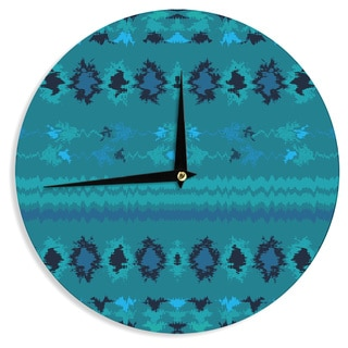 KESS InHouse Nina May 'Turquoise Nava' Teal Tribal Wall Clock