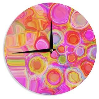 KESS InHouse Nina May 'Spring' Wall Clock