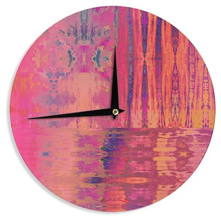 KESS InHouse Nina May 'Soladiza' Pink Wall Clock