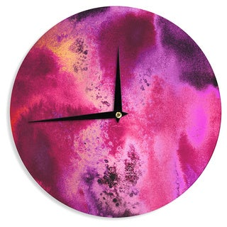 KESS InHouse Nina May 'Rosewater Sun' Pink Purple Wall Clock