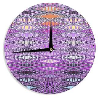KESS InHouse Nina May 'Orche Kilim' Pink Wall Clock