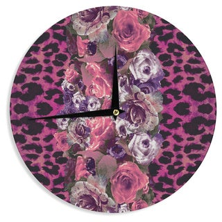 KESS InHouse Nina May 'Rose Stripe' Wall Clock